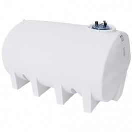 2500 Gallon White Horizontal Leg Tank