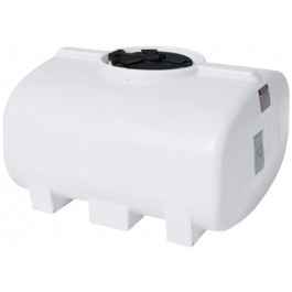 250 Gallon White Horizontal Leg Tank