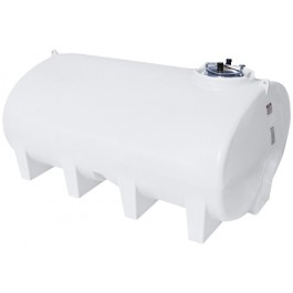 2800 Gallon White Horizontal Leg Tank