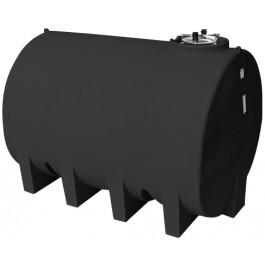 3000 Gallon Black Horizontal Leg Tank