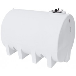 3000 Gallon White Horizontal Leg Tank