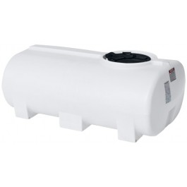 300 Gallon White Horizontal Leg Tank