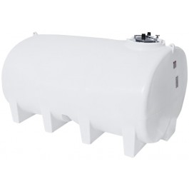 3200 Gallon White Horizontal Leg Tank