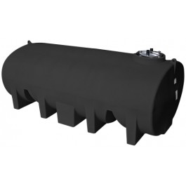 3500 Gallon Black Horizontal Leg Tank