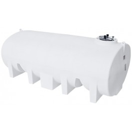 3500 Gallon White Horizontal Leg Tank