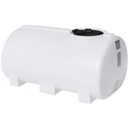400 Gallon White Horizontal Leg Tank