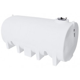 4500 Gallon White Horizontal Leg Tank