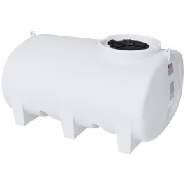 550 Gallon White Horizontal Leg Tank