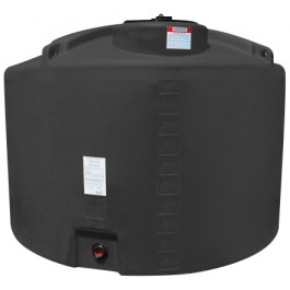 1000 Gallon Black Vertical Storage Tank