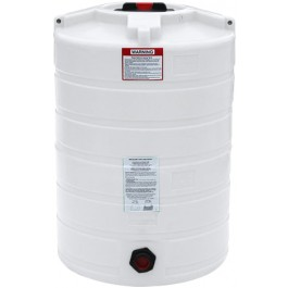 100 Gallon White Vertical Storage Tank