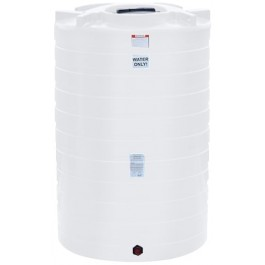 1100 Gallon White Vertical Storage Tank