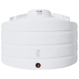 1125 Gallon White Vertical Storage Tank