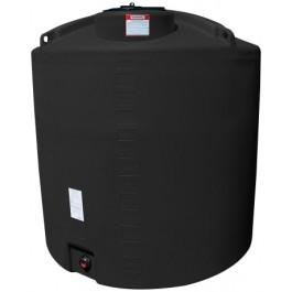 1400 Gallon Black Vertical Storage Tank