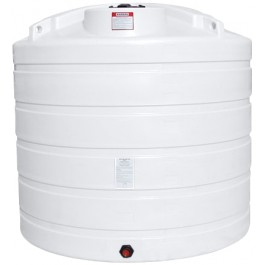 1550 Gallon White Vertical Storage Tank
