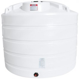 1650 Gallon White Vertical Storage Tank