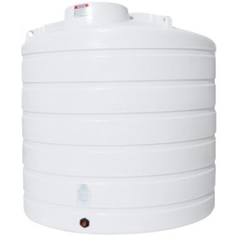2000 Gallon White Vertical Storage Tank