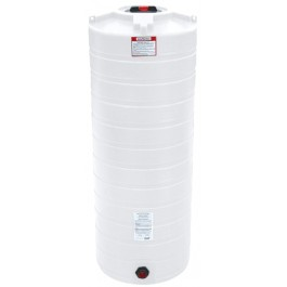 200 Gallon White Vertical Storage Tank
