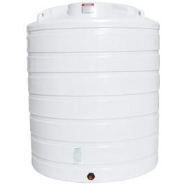 2100 Gallon White Vertical Storage Tank