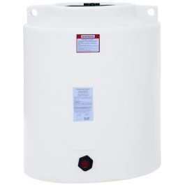 210 Gallon White Vertical Storage Tank