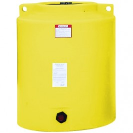 210 Gallon Yellow Vertical Storage Tank