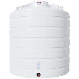 2600 Gallon White Vertical Storage Tank