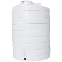 3000 Gallon White Vertical Storage Tank
