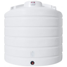 3200 Gallon White Vertical Storage Tank