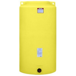 340 Gallon Yellow Vertical Storage Tank