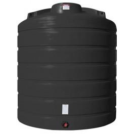 4000 Gallon Black Vertical Storage Tank