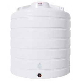 4000 Gallon White Vertical Storage Tank