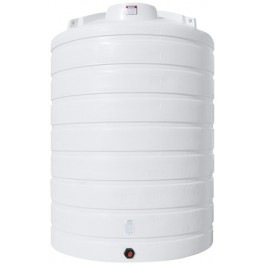 5000 Gallon White Vertical Storage Tank