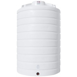 6000 Gallon White Vertical Storage Tank