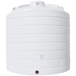 6250 Gallon White Vertical Storage Tank