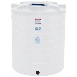 870 Gallon White Vertical Storage Tank