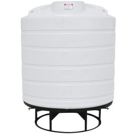 550 Gallon White Cone Bottom Tank with Stand