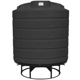 550 Gallon Black Cone Bottom Tank with Stand