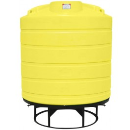 550 Gallon Yellow Cone Bottom Tank with Stand