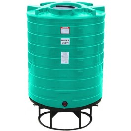 870 Gallon Green Cone Bottom Tank with Stand