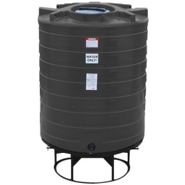 870 Gallon Black Cone Bottom Tank with Stand