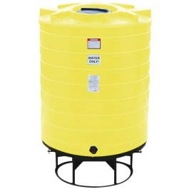 870 Gallon Yellow Cone Bottom Tank with Stand