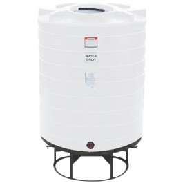 870 Gallon White Cone Bottom Tank with Stand