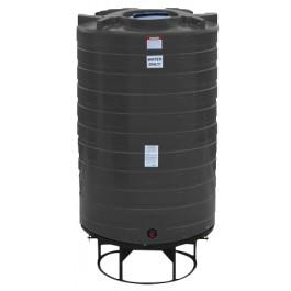 1100 Gallon Black Cone Bottom Tank