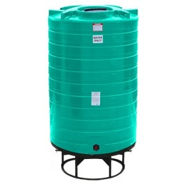 1100 Gallon Green Cone Bottom Tank with Stand