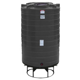 1100 Gallon Black Cone Bottom Tank with Stand