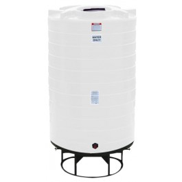1100 Gallon White Cone Bottom Tank with Stand