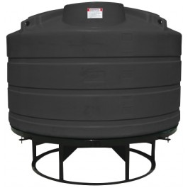 1200 Gallon Black Cone Bottom Tank
