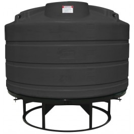 1200 Gallon Black Cone Bottom Tank with Stand