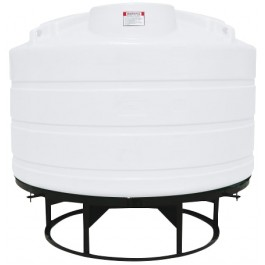 1200 Gallon White Cone Bottom Tank with Stand