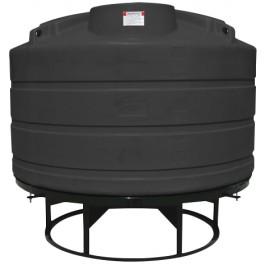 1350 Gallon Black Cone Bottom Tank