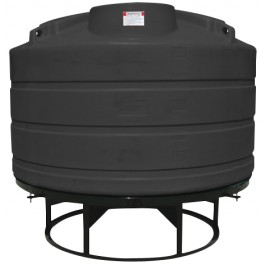1350 Gallon Black Cone Bottom Tank with Stand